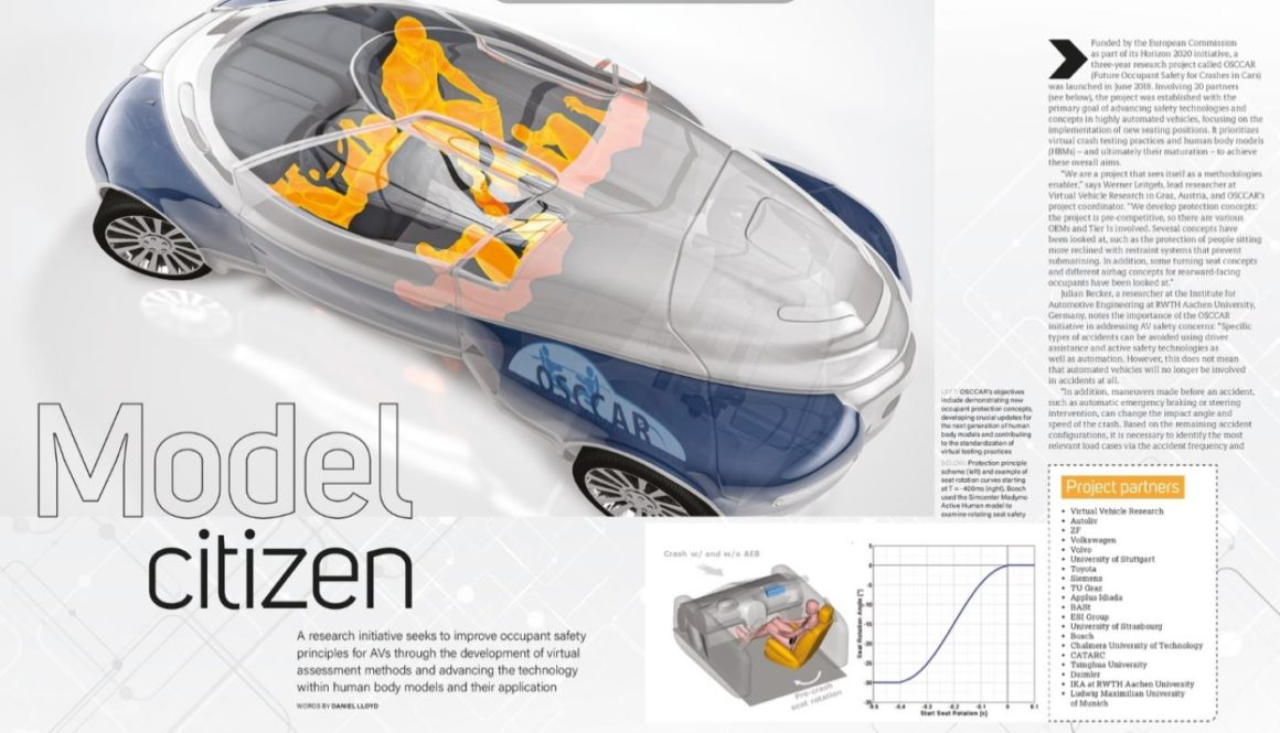 OSCCAR project  featured in Crash Test Technology International